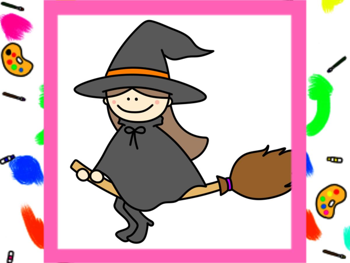 魔女 イラスト 描き方 かわいい ハロウィン