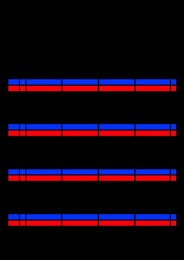 2021年家族カレンダー シンプル 背景透過PNG形式 4人用 6月