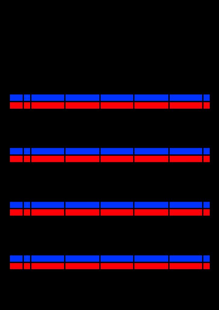 2021年家族カレンダー シンプル 背景透過PNG形式 5人用 6月