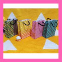 和柄の手作りミニ紙バッグ作成用無料テンプレート