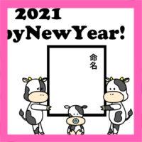 2021年 出産報告年賀状 写真なし 無料テンプレート 印刷してご自由にお使いください