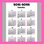 令和3年4月始まり 年間カレンダー シンプル 無料ダウンロード・印刷