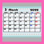 2021年ガーリー月間カレンダー 4月始まり 月曜始まり 無料ダウンロード・印刷
